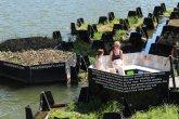 Parque flutuante em Roterdã é feito de plástico reciclado